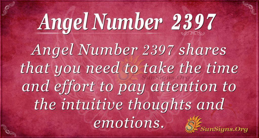 Angel number 2397