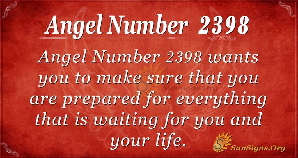 Angel number 2398