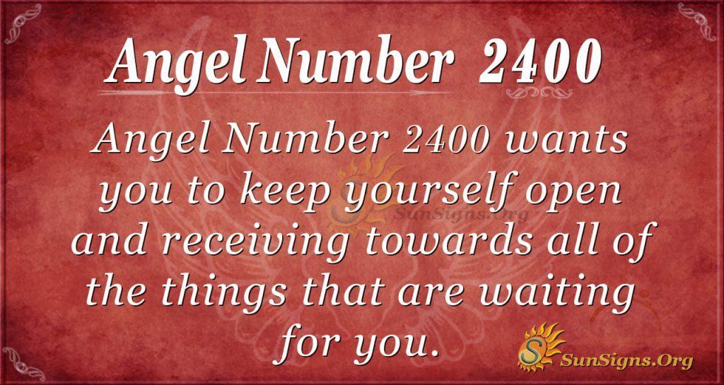 Angel number 2400