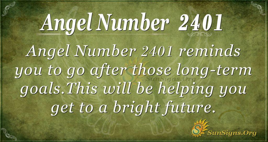 angel number 2401