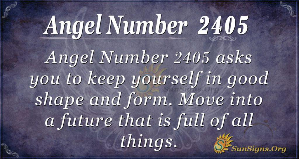 Angel Number 2405