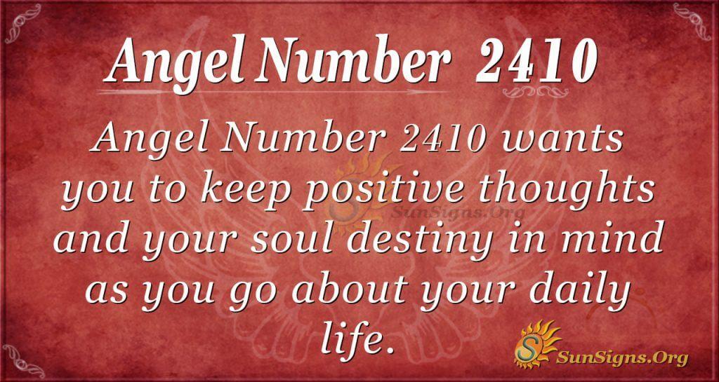 Angel number 2410
