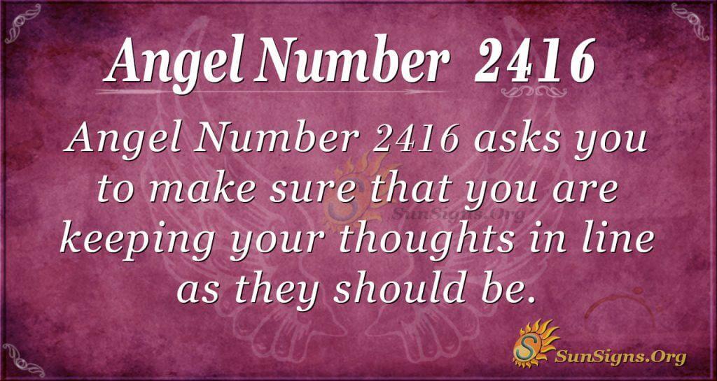 Angel number 2416