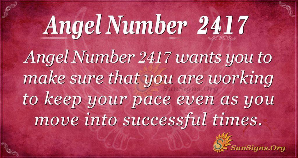 Angel number 2417