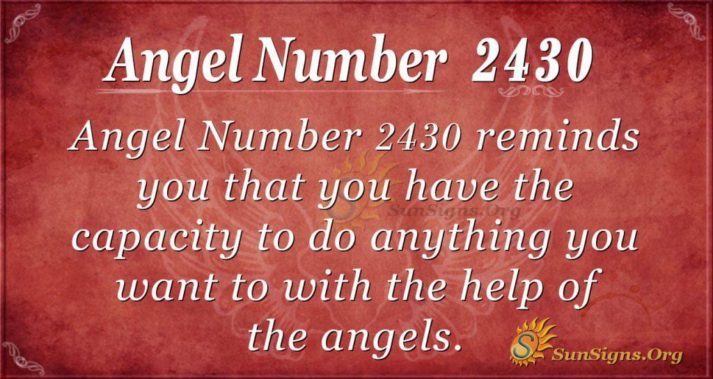Angel number 2430