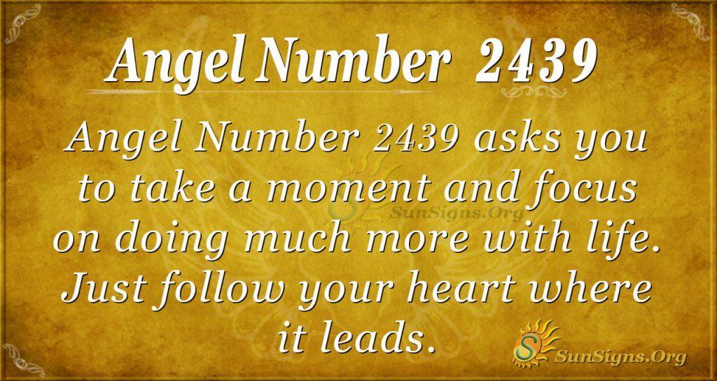 Angel Number 2439