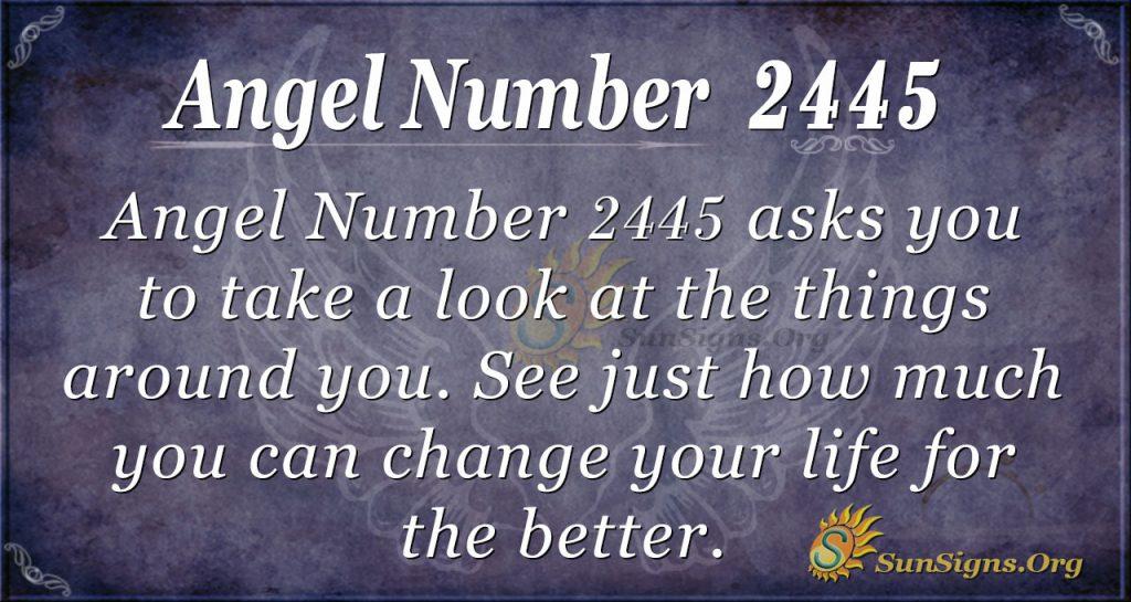 Angel Number 2445