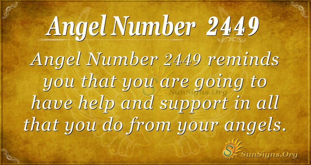 Angel number 2449