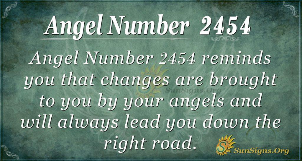 Angel number 2454