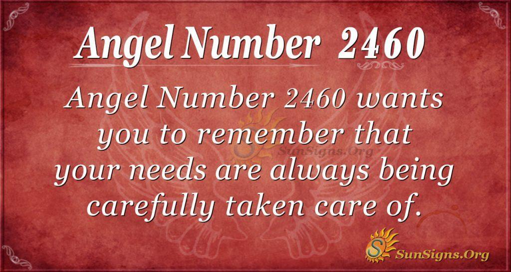 Angel Number 2460