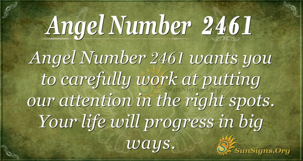 Angel number 2461