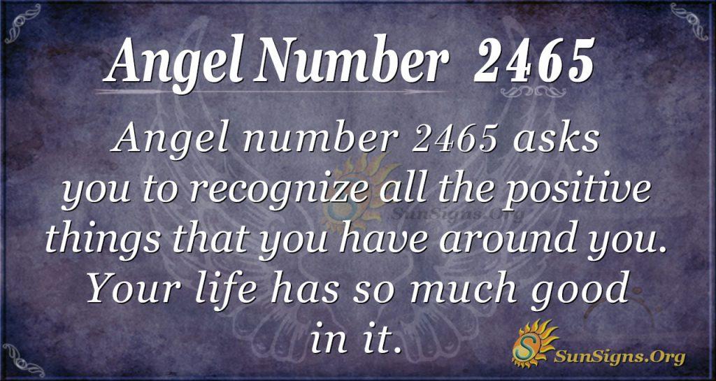 Angel Number 2465