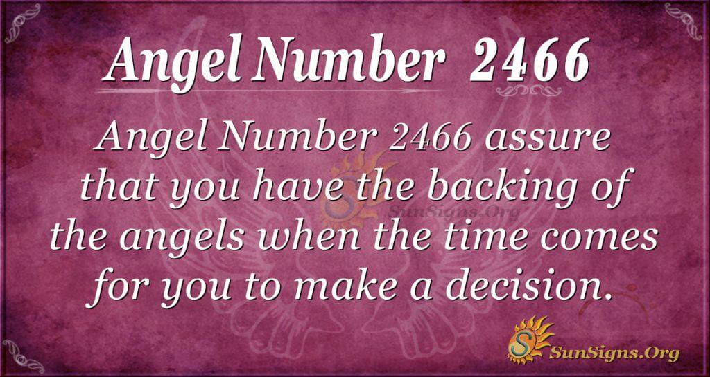 Angel number 2466