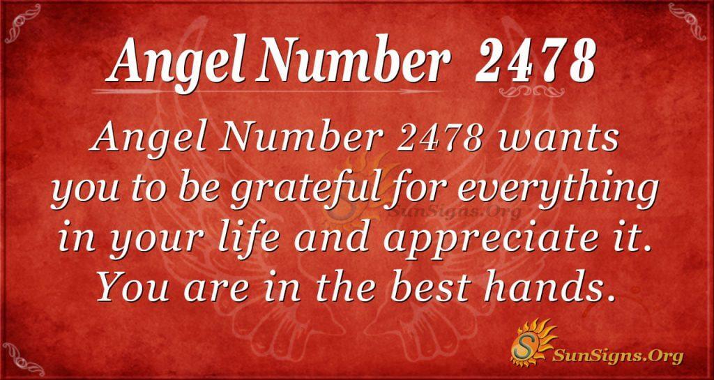 Angel number 2478
