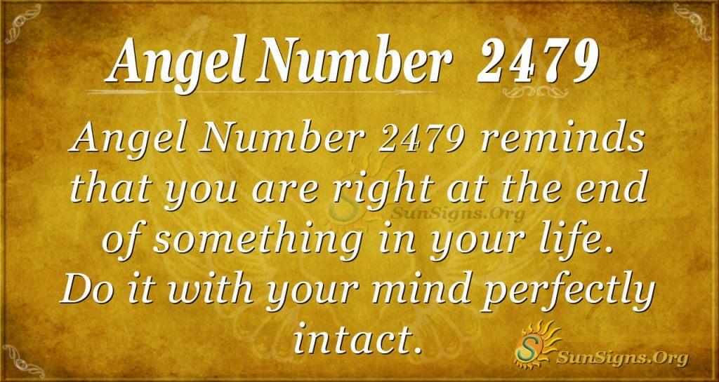 Angel Number 2479