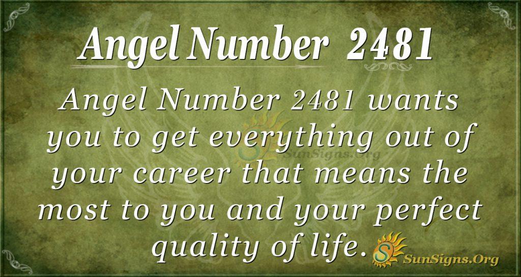 Angel number 2481