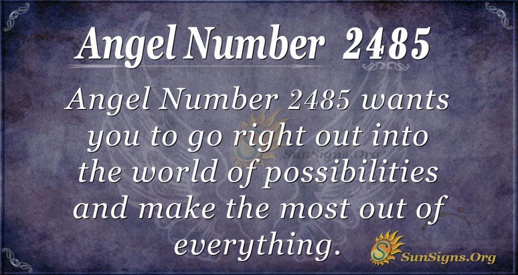 Angel number 2485