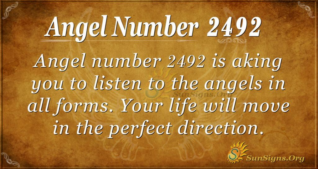 Angel Number 2492