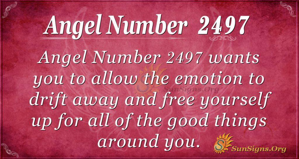 Angel number 2497