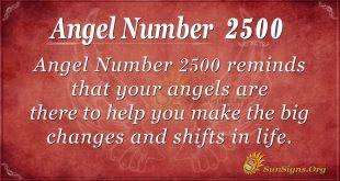 Angel number 2500