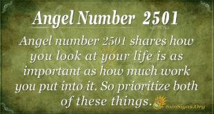 Angel Number 2501