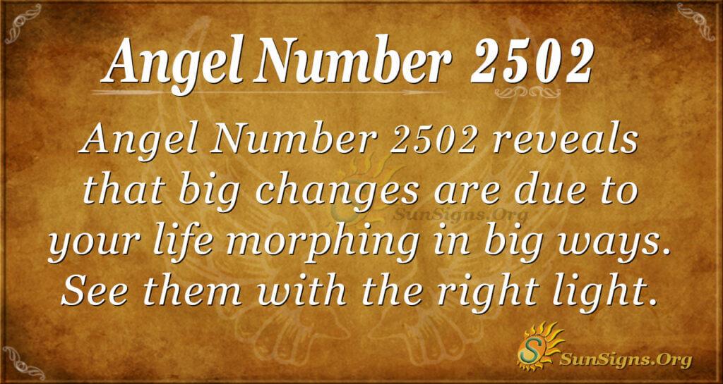 Angel Number 2502