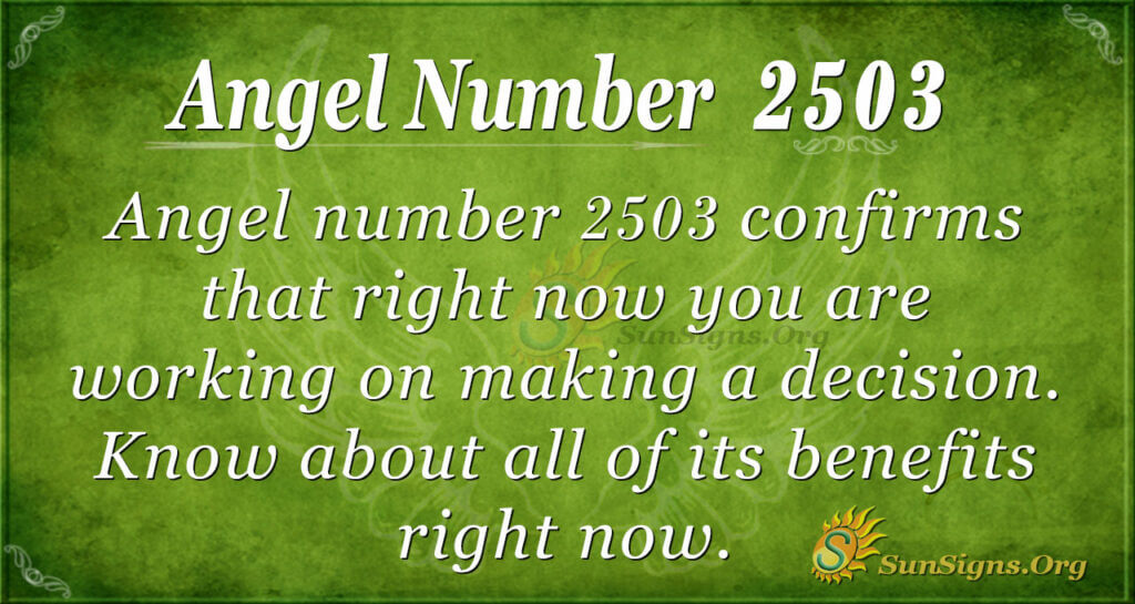 angel anumber 2503