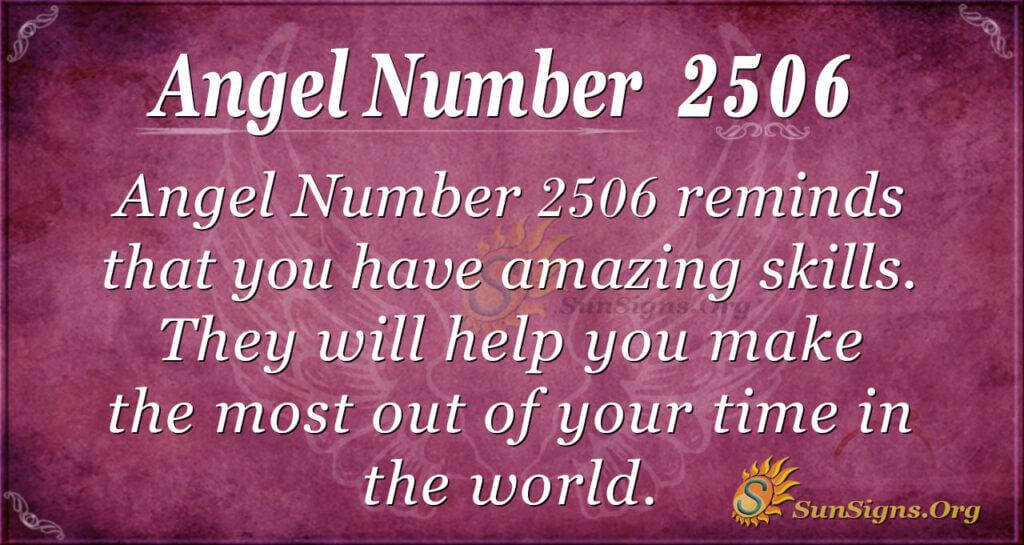 Angel Number 2506