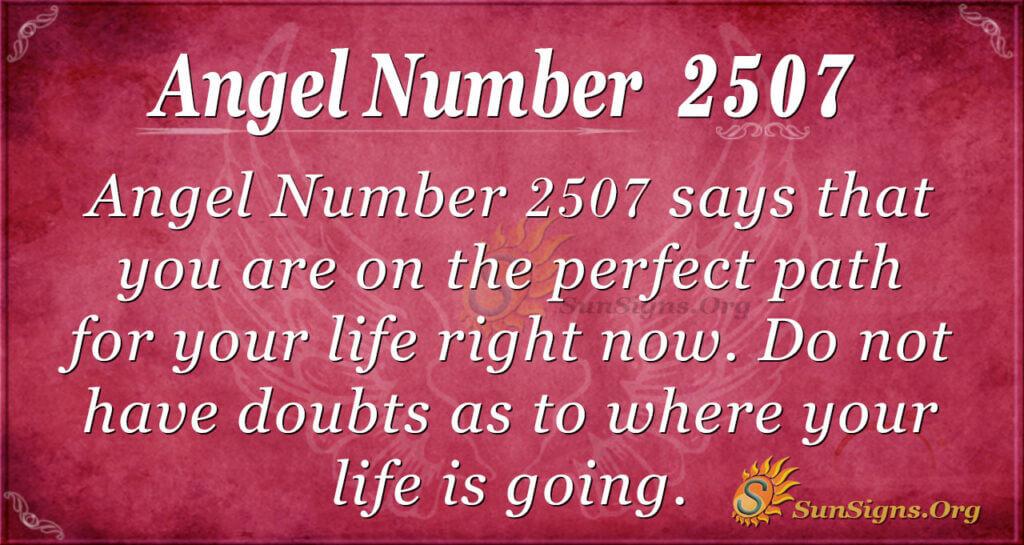 Angel Number 2507