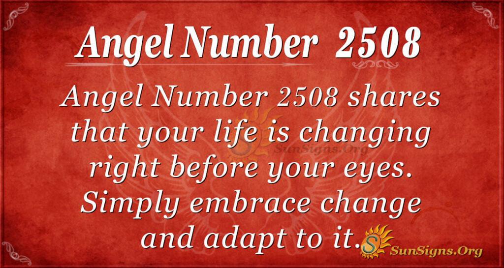 Angel Number 2508