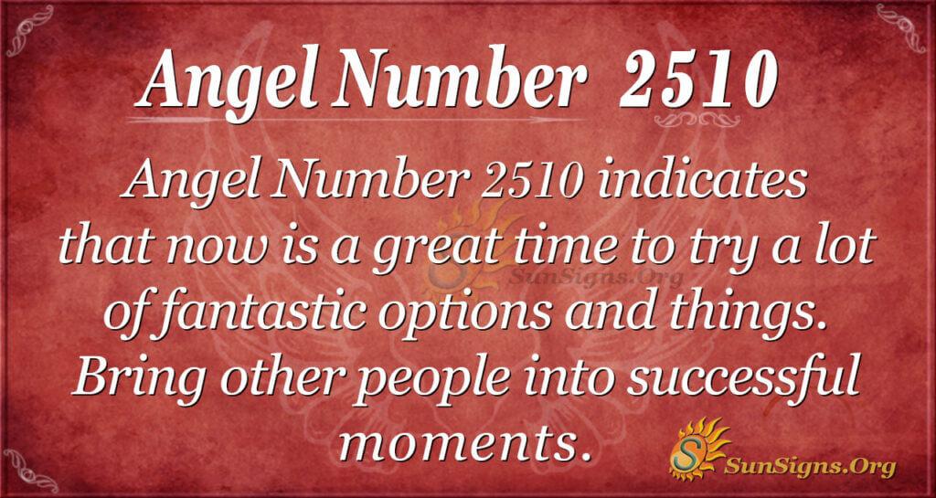 Angel number 2510