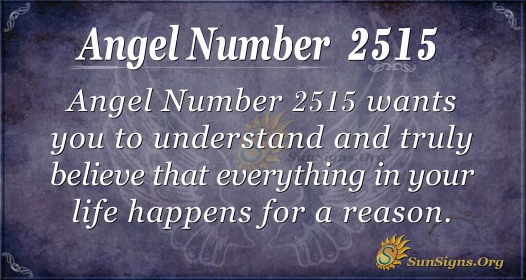 Angel number 2515