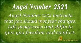 Angel Number 2523