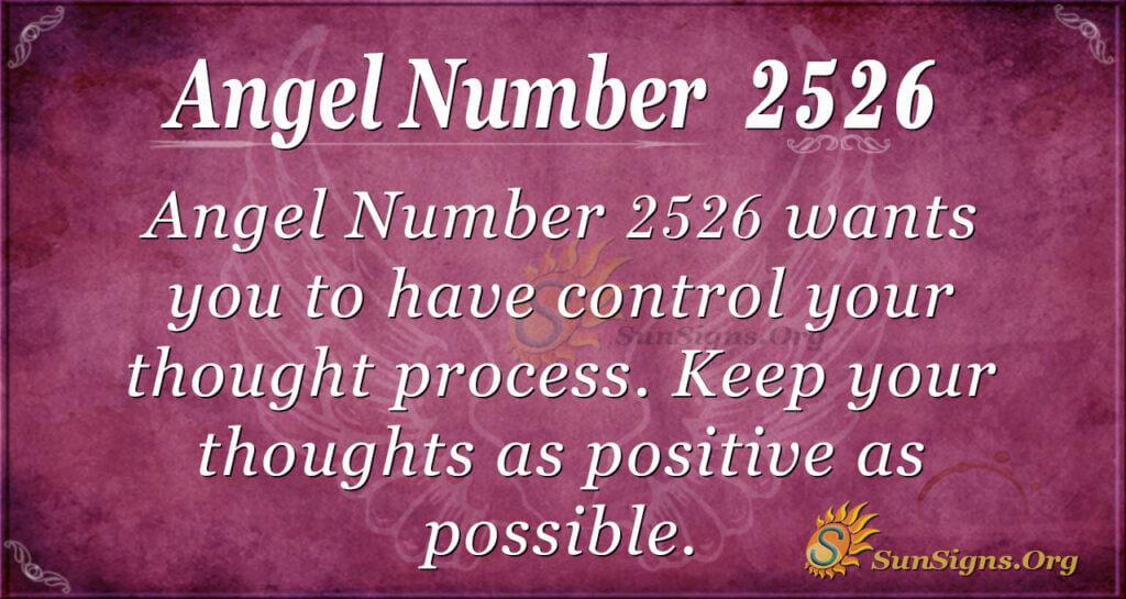 Angel Number 2526