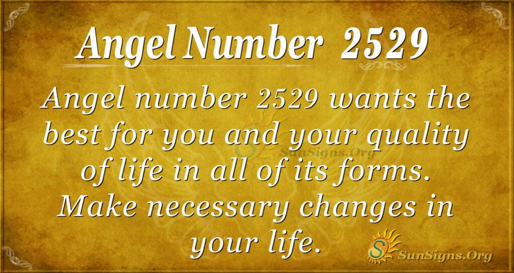 Angel number 2529