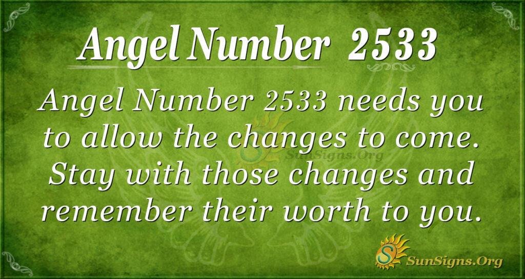 Angel Number 2533