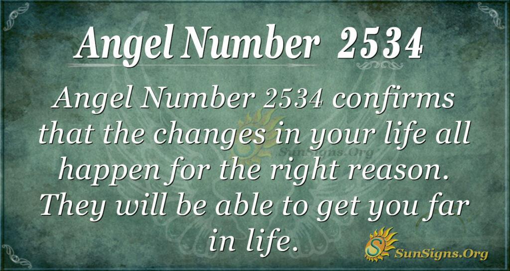 Angel Number 2534