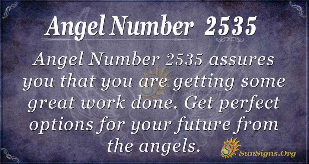 Angel Number 2535