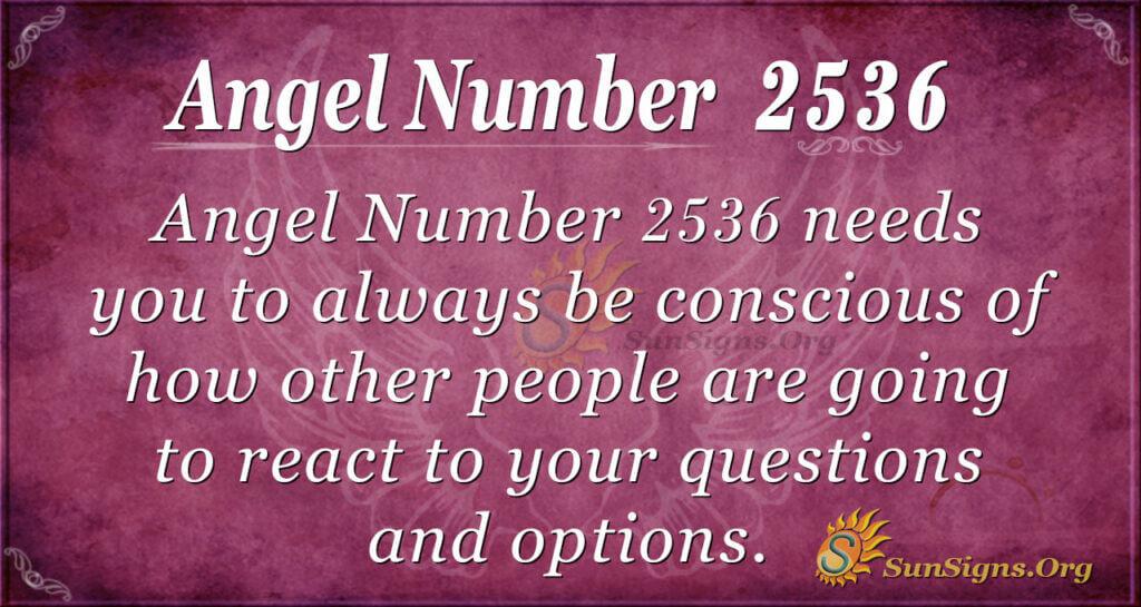 Angel Number 2536