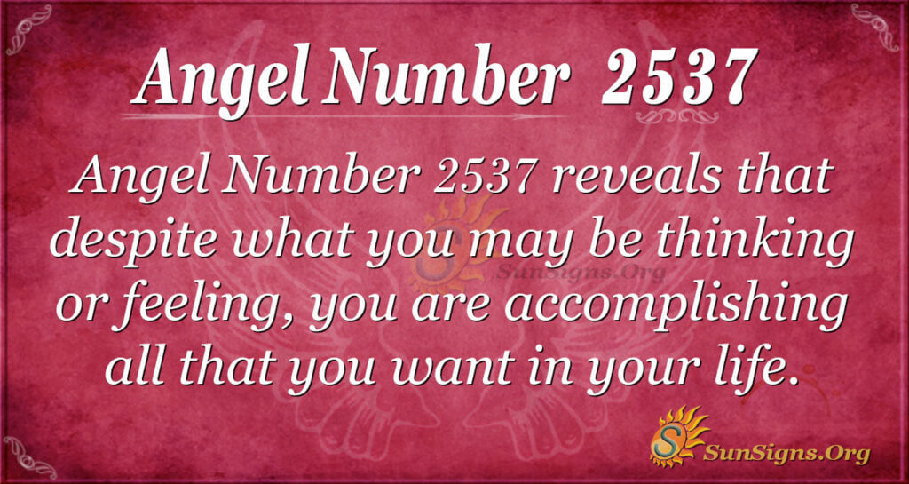 Angel Number 2537