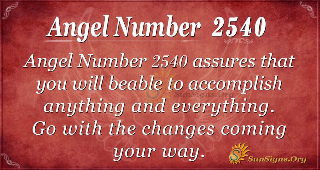 Angel number 2540