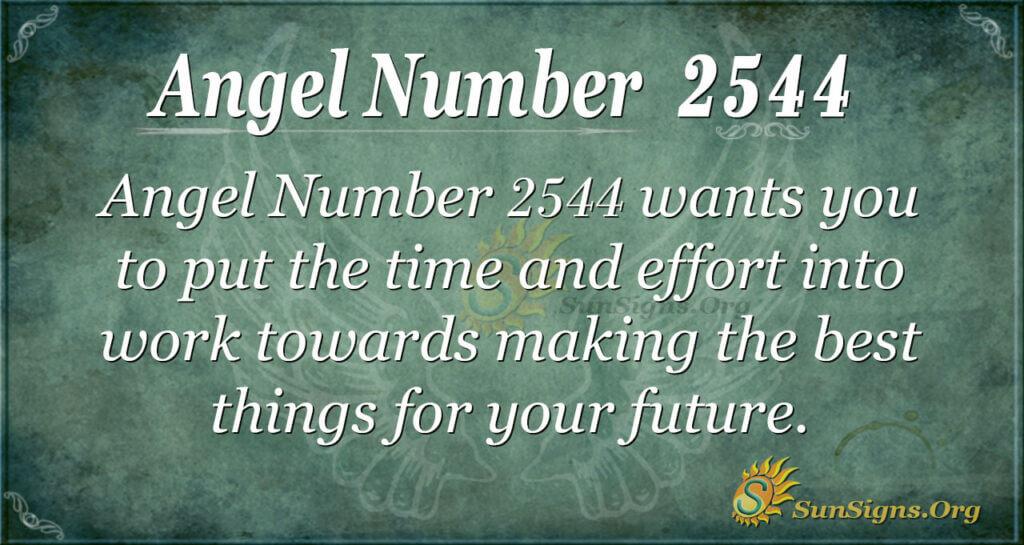 Angel Number 2544