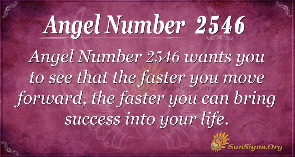 Angel Number 2546