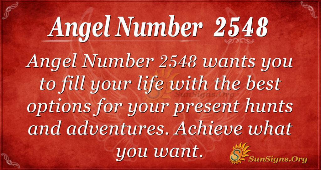 Angel number 2548