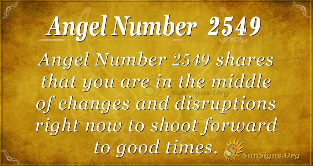 Angel number 2549