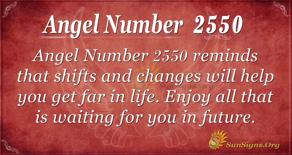 Angel number 2550