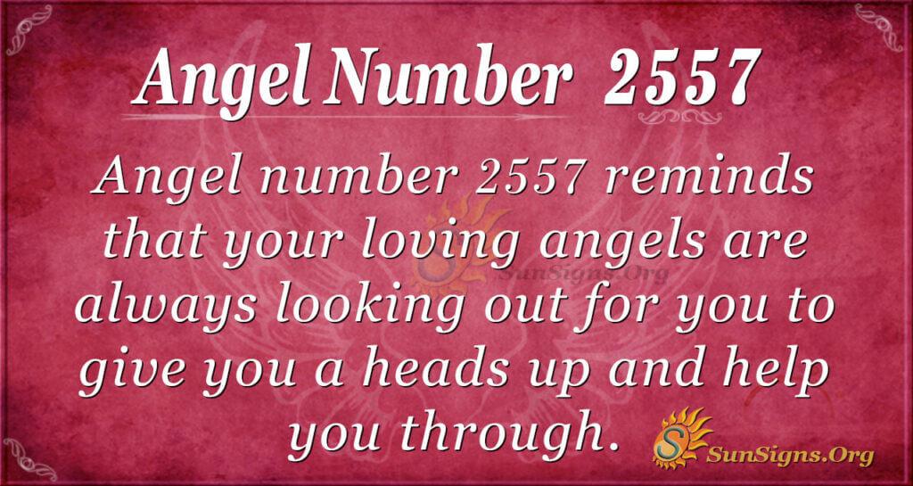 Angel number 2557