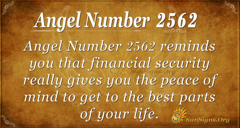 Angel Number 2562