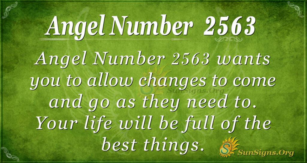 Angel Number 2563