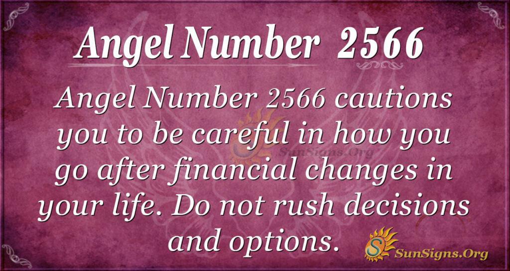 Angel number 2566